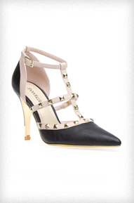 Erin Studded T-Strap Heels