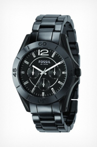 Fossil Women&#8217;s CE1003 Black Ceramic Watch
