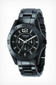 Fossil Women's CE1003 Black Ceramic Watch
