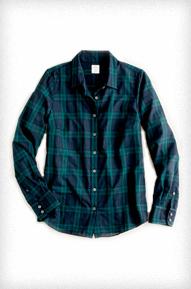 JCrew Perfect Shirt In Blackwatch Plaid