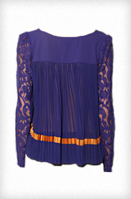 Amethyst Pleated Trapeze Top
