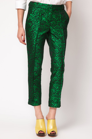 ASOS Premium Cropped Pants in Spot Print