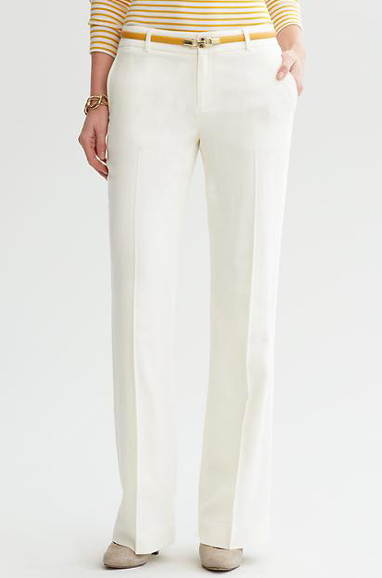 Banana Republic Martin Fit White Flannel Trouser