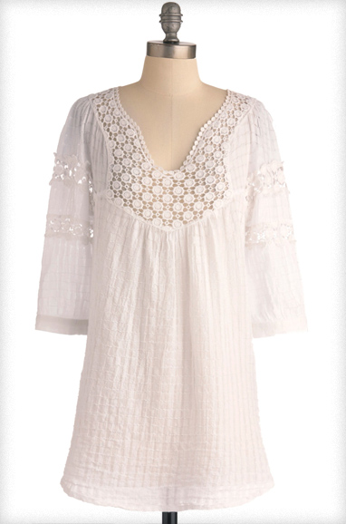 Houseboat Tunic In White