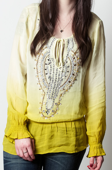Embellished Ombré Georgette Tunic