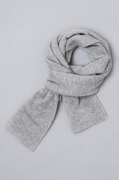 Gray Melange Mongolian Cashmere Scarf